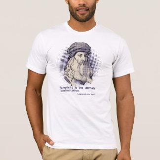 Tshirt branco das citações de da Vinci Camiseta