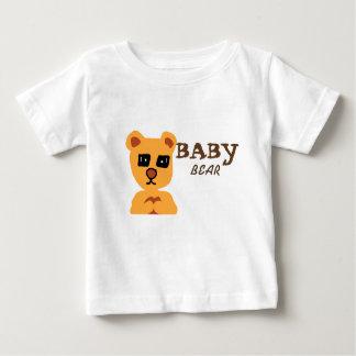 Tshirt branco do urso do bebê para o bebé camiseta para bebê
