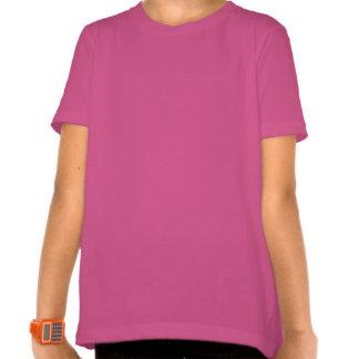 TShirt cor-de-rosa do algodão das meninas bonitos