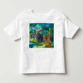 Tshirt crianças animais da selva camiseta infantil