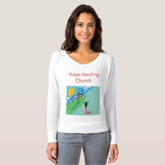 Tshirt cura do cristão da igreja da esperança camiseta