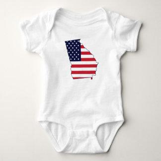 Tshirt da bandeira americana do estado de Geórgia Body Para Bebê