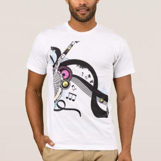 Tshirt da música do divertimento camiseta