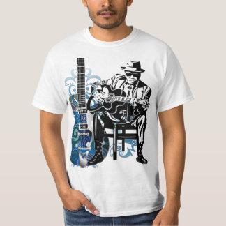 tshirt da música do homem da guitarra dos azuis