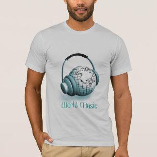 Tshirt da música do mundo camiseta