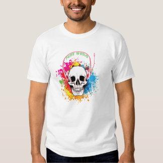 Tshirt da música do mundo do punk