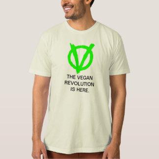 Tshirt da revolução do Vegan com logotipo