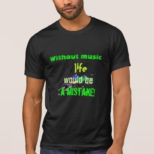 Tshirt da vida da música