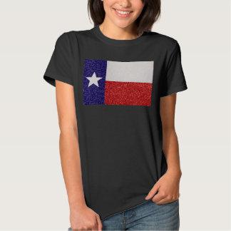 Tshirt das senhoras da bandeira de Texas do brilho