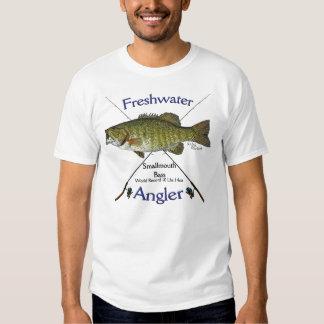 Tshirt. de água doce da pesca do pescador do baixo tshirts