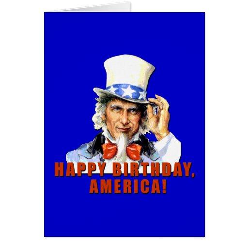Tshirt de América do feliz aniversario do tio Sam Cartoes
