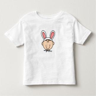 Tshirt de cabelo do coelho de Brown do menino Camiseta Infantil