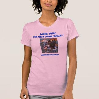 Tshirt de O4P eu não sou para a venda - mulheres