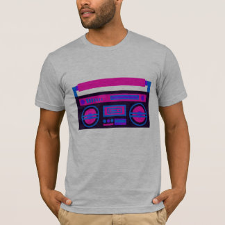 tshirt de rádio legal da música camiseta