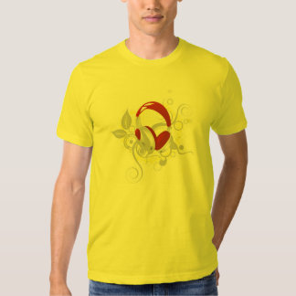 Tshirt do auscultadores da música