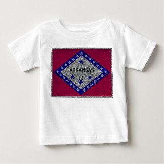 Tshirt do bebê da bandeira de Arkansas do brilho