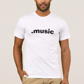 tshirt do branco de .music camiseta