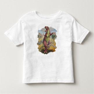 Tshirt do branco do dinossauro do tiranossauro