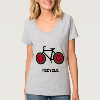 Tshirt do bycycle do reciclar camiseta