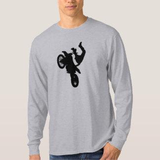 Tshirt do cavaleiro da bicicleta da sujeira da camiseta