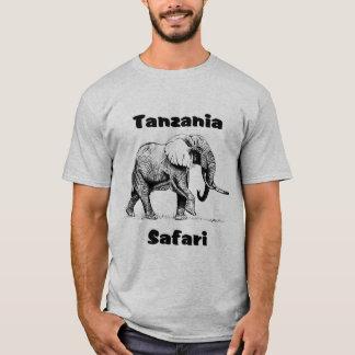 Tshirt do elefante do safari de Tanzânia Camiseta