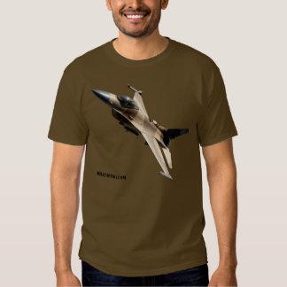 Tshirt do esquadrão do agressor do F-16 da força