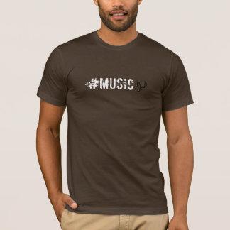 Tshirt do hashtag da música camiseta
