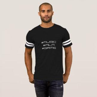 Tshirt do jogo do filme da música camiseta