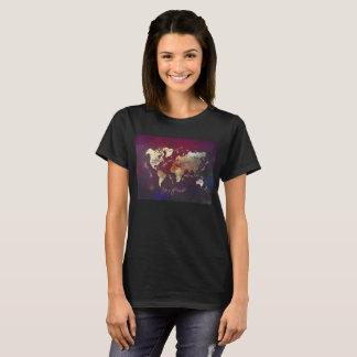 tshirt do mapa do mundo camiseta