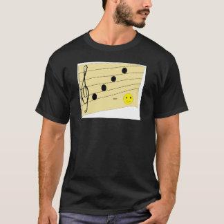 Tshirt do músico, com uma em-piada camiseta