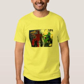 Tshirt do partido da música de dança