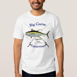 Tshirt do pescador do grande jogo do atum de atum