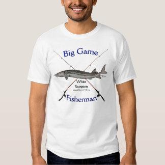 Tshirt do pescador do grande jogo do esturjão
