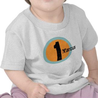 Tshirt do primeiro aniversario do nome e da idade