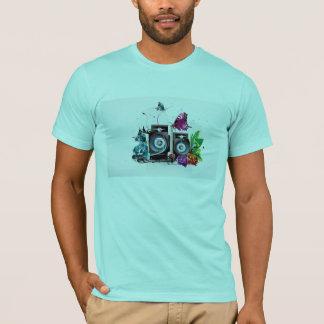 Tshirt dos homens do auto-falante da música camiseta