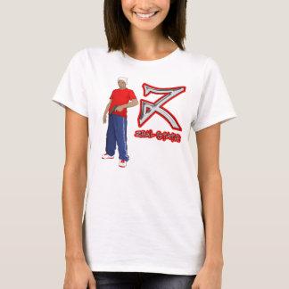 Tshirt fêmea estático do zelo camiseta