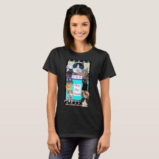 TShirt feroz do gato Camiseta