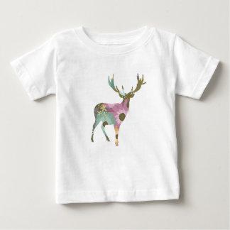 Tshirt floral do bebê dos cervos camiseta para bebê