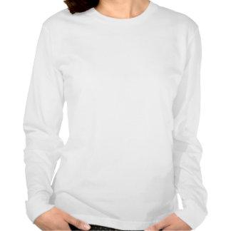 Tshirt longo da luva da mulher pura do poço