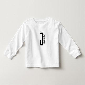 Tshirt longo do roupa de NeiceeJ da luva da Camiseta Infantil