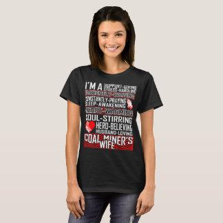 Tshirt Loving da esposa do mineiro de carvão do Camiseta