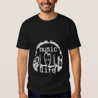 Tshirt na moda da marca da música