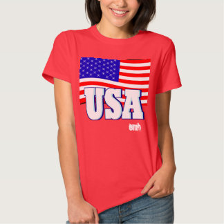 Tshirt novo da bandeira dos EUA dos esportes