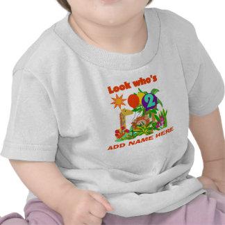 Tshirt personalizado do segundo aniversário do saf