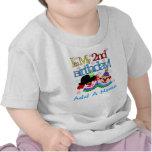 Tshirt personalizado do segundo aniversário dos pa