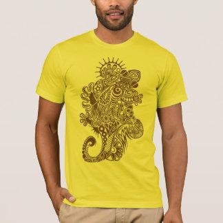 Tshirt tribal do design da arte do geco - camiseta