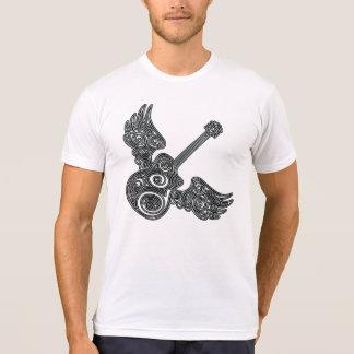 tshirt voado da música da guitarra