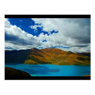 Tso de Yamdrok- do lago em Tibet Cartão Postal