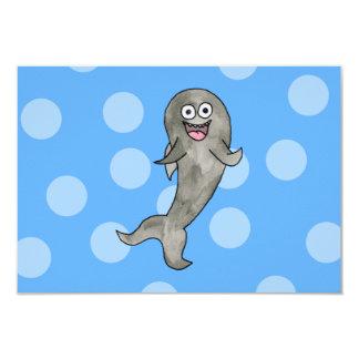 Tubarão da dança convite 8.89 x 12.7cm