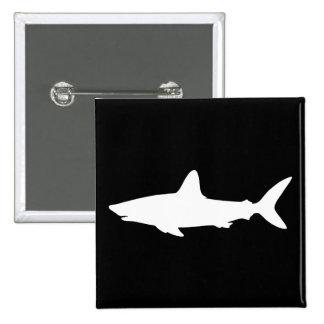 Tubarão da natação bóton quadrado 5.08cm